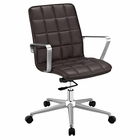 Modway Tile Faux Leather Office Chair in Brown MY-EEI-2127-BRN