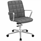 Modway Tile Faux Leather Office Chair in Gray MY-EEI-2127-GRY
