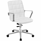 Modway Tile Faux Leather Office Chair in White MY-EEI-2127-WHI
