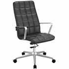Modway Tile Highback Faux Leather Office Chair in Black MY-EEI-2126-BLK