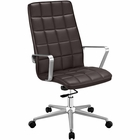 Modway Tile Highback Faux Leather Office Chair in Brown MY-EEI-2126-BRN