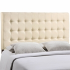 Modway Tinble Queen Tufted Upholstered Fabric Headboard in Ivory MY-MOD-5210-IVO