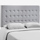 Modway Tinble Queen Tufted Upholstered Fabric Headboard in Sky Gray MY-MOD-5210-GRY