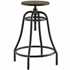 Modway Toll Metal Bar Stool in Brown MY-EEI-2042-BRN