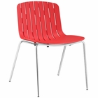 Modway Trace Dining Side Chair in Red MY-EEI-1495-RED