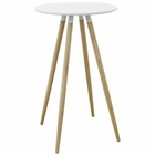 Modway Track Round Beech Wood Bar Table in Whiite MY-EEI-2675-WHI-SET