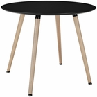 Modway Track Round Dining Table in Black MY-EEI-1055-BLK