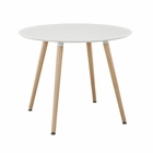 Modway Track Round Dining Table in White MY-EEI-1055-WHI