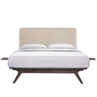 Modway Tracy 3 Piece Full Wood Bedroom Set in Cappuccino Beige MY-MOD-5485-CAP-BEI-SET