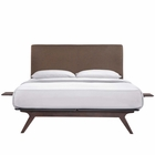 Modway Tracy 3 Piece Full Wood Bedroom Set in Cappuccino Brown MY-MOD-5485-CAP-BRN-SET