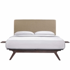 Modway Tracy 3 Piece Full Wood Bedroom Set in Cappuccino Latte MY-MOD-5485-CAP-LAT-SET