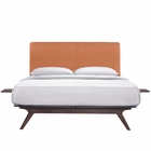 Modway Tracy 3 Piece Full Wood Bedroom Set in Cappuccino Orange MY-MOD-5485-CAP-ORA-SET
