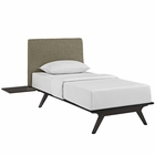 Modway Tracy 3 Piece Twin Wood Bedroom Set in Cappuccino Latte MY-MOD-5484-CAP-LAT-SET