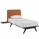 Modway Tracy 3 Piece Twin Wood Bedroom Set in Cappuccino Orange MY-MOD-5484-CAP-ORA-SET