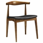 Modway Tracy Dining Wood Side Chair in Black MY-EEI-559-BLK