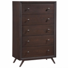 Modway Tracy Upholstered Fabric Wood Chest in Cappuccino MY-MOD-5242-CAP