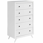 Modway Tracy Upholstered Fabric Wood Chest in White MY-MOD-5242-WHI