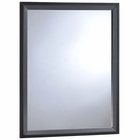 Modway Tracy Upholstered Fabric Wood Mirror in Black MY-MOD-5243-BLK