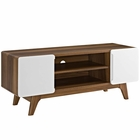 """Modway Tread 47"""" TV Stand in Walnut White MY-EEI-2532-WAL-WHI"""