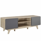 "Modway Tread 59"" TV Stand in Natural Gray MY-EEI-2543-NAT-GRY"