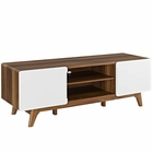 """Modway Tread 59"""" TV Stand in Walnut White MY-EEI-2543-WAL-WHI"""