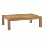 Modway Upland Outdoor Patio Teak Wood Coffee Table in Natural MY-EEI-2710-NAT