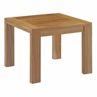 Modway Upland Outdoor Patio Teak Wood Side Table in Natural MY-EEI-2709-NAT