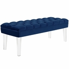 Modway Valet Velvet Bench in Navy MY-EEI-2460-NAV