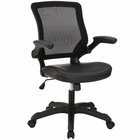 Modway Veer Faux Leather Office Chair in Black MY-EEI-291-BLK