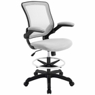 Modway Veer Mesh Drafting Chair in Gray MY-EEI-1423-GRY
