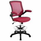 Modway Veer Mesh Drafting Chair in Red MY-EEI-1423-RED