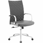 Modway Verge Webbed Back Faux Leather Office Chair in Gray MY-EEI-2858-GRY