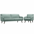 Modway Verve Living Room Furniture Upholstered Fabric 2 Piece Set in Laguna MY-EEI-2447-LAG-SET