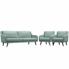 Modway Verve Living Room Furniture Upholstered Fabric 3 Piece Set in Laguna MY-EEI-2445-LAG-SET