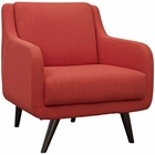 Modway Verve Upholstered Fabric Armchair in Atomic Red MY-EEI-2128-ATO