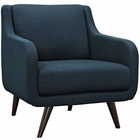 Modway Verve Upholstered Fabric Armchair in Azure MY-EEI-2128-AZU