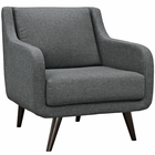 Modway Verve Upholstered Fabric Armchair in Gray MY-EEI-2128-GRY