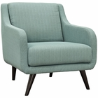 Modway Verve Upholstered Fabric Armchair in Laguna MY-EEI-2128-LAG