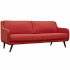 Modway Verve Upholstered Fabric Sofa in Atomic Red MY-EEI-2129-ATO