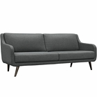 Modway Verve Upholstered Fabric Sofa in Gray MY-EEI-2129-GRY