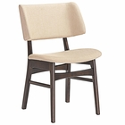 Modway Vestige Dining Side Chair in Walnut Beige MY-EEI-1610-WAL-BEI