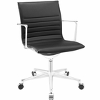Modway Vi Mid Back Faux Leather Office Chair in Black MY-EEI-1526-BLK