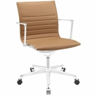 Modway Vi Mid Back Faux Leather Office Chair in Tan MY-EEI-1526-TAN