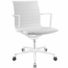 Modway Vi Mid Back Faux Leather Office Chair in White MY-EEI-1526-WHI