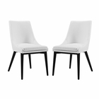 Modway Viscount Dining Side Chairs Faux Leather Set of 2 in White MY-EEI-2744-WHI-SET