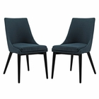 Modway Viscount Dining Side Chairs Upholstered Fabric Set of 2 in Azure MY-EEI-2745-AZU-SET
