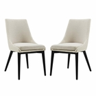 Modway Viscount Dining Side Chairs Upholstered Fabric Set of 2 in Beige MY-EEI-2745-BEI-SET
