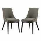 Modway Viscount Dining Side Chairs Upholstered Fabric Set of 2 in Granite MY-EEI-2745-GRA-SET