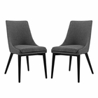 Modway Viscount Dining Side Chairs Upholstered Fabric Set of 2 in Gray MY-EEI-2745-GRY-SET
