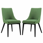 Modway Viscount Dining Side Chairs Upholstered Fabric Set of 2 in Kelly Green MY-EEI-2745-GRN-SET